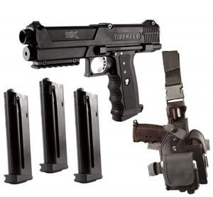 Tippmann TPX Paintball Pistol Starter Kit – Black